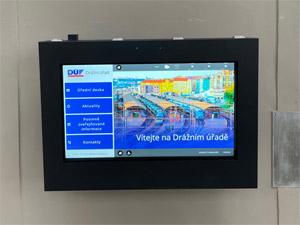 Digitálna úradná tabuľa Drážní úřad Praha